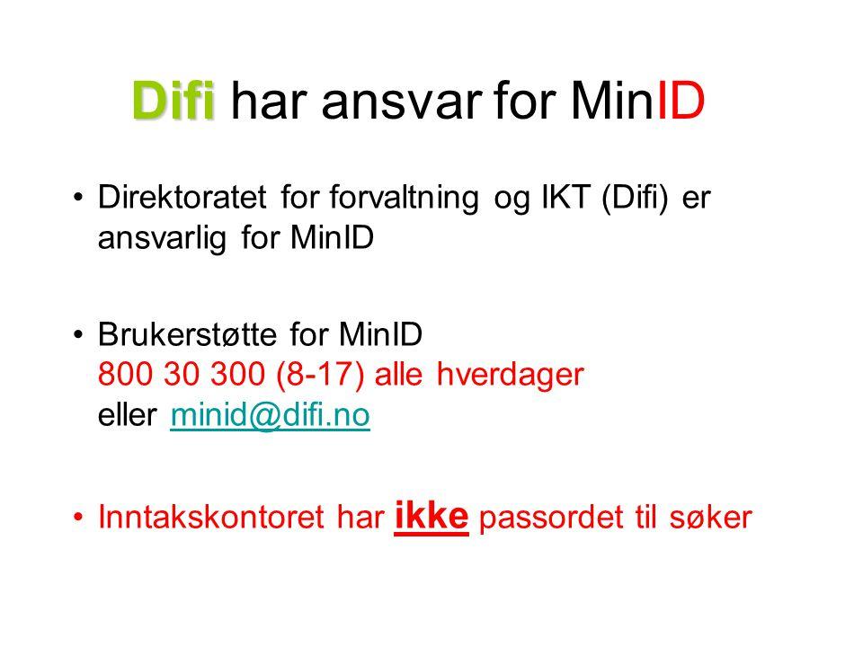 Difi har ansvar for MinID
