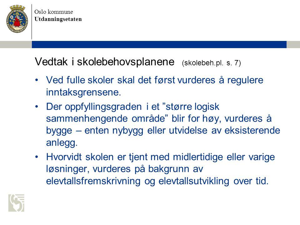 Vedtak i skolebehovsplanene (skolebeh.pl. s. 7)