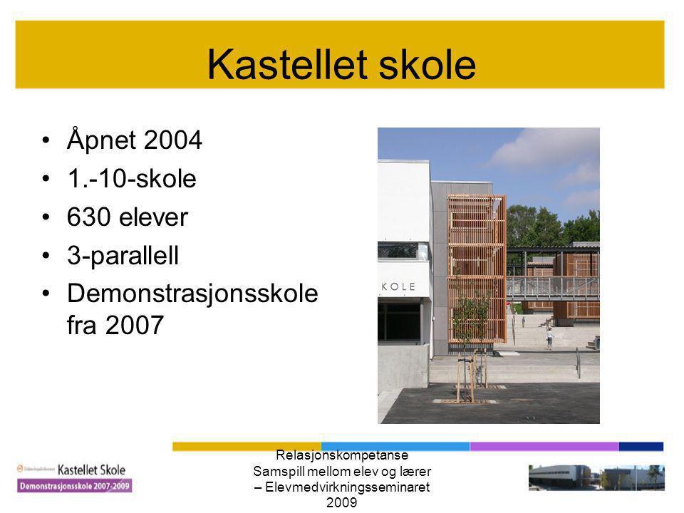 Kastellet skole Åpnet 2004 1.-10-skole 630 elever 3-parallell