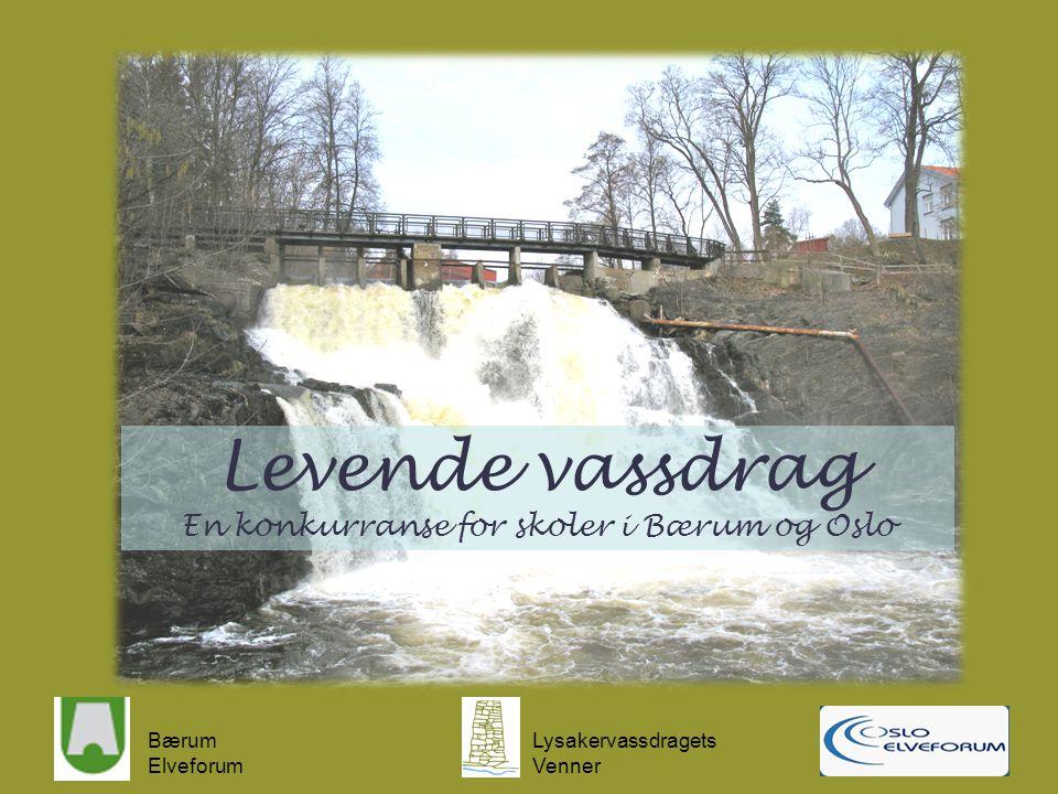 Levende vassdrag En konkurranse for skoler i Bærum og Oslo