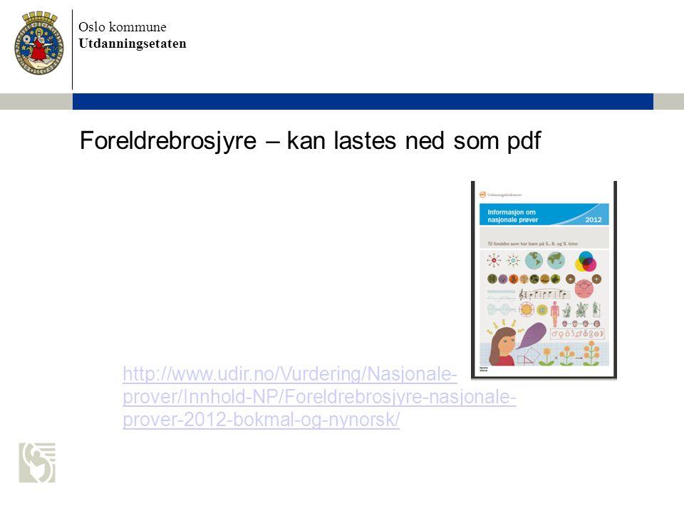 Foreldrebrosjyre – kan lastes ned som pdf