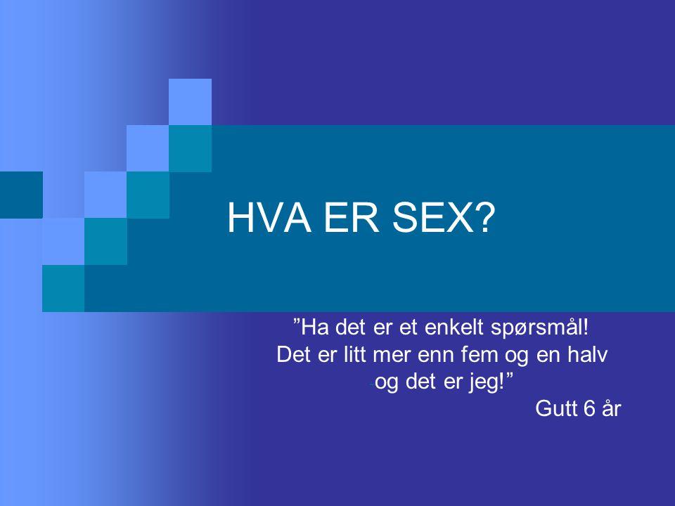 HVA ER SEX Ha det er et enkelt spørsmål!