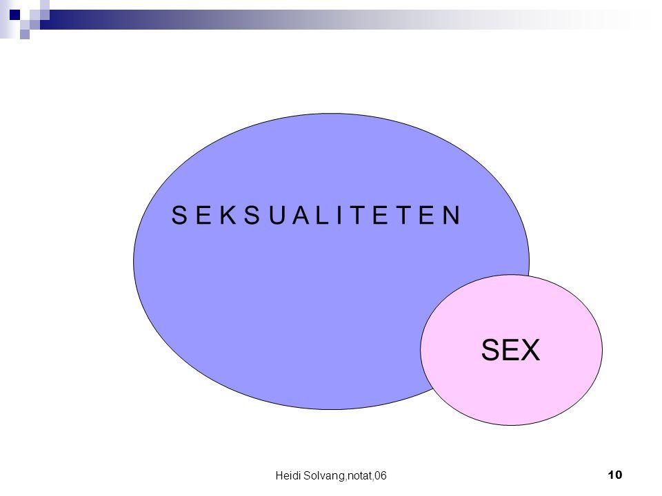 S E K S U A L I T E T E N SEX Heidi Solvang,notat,06