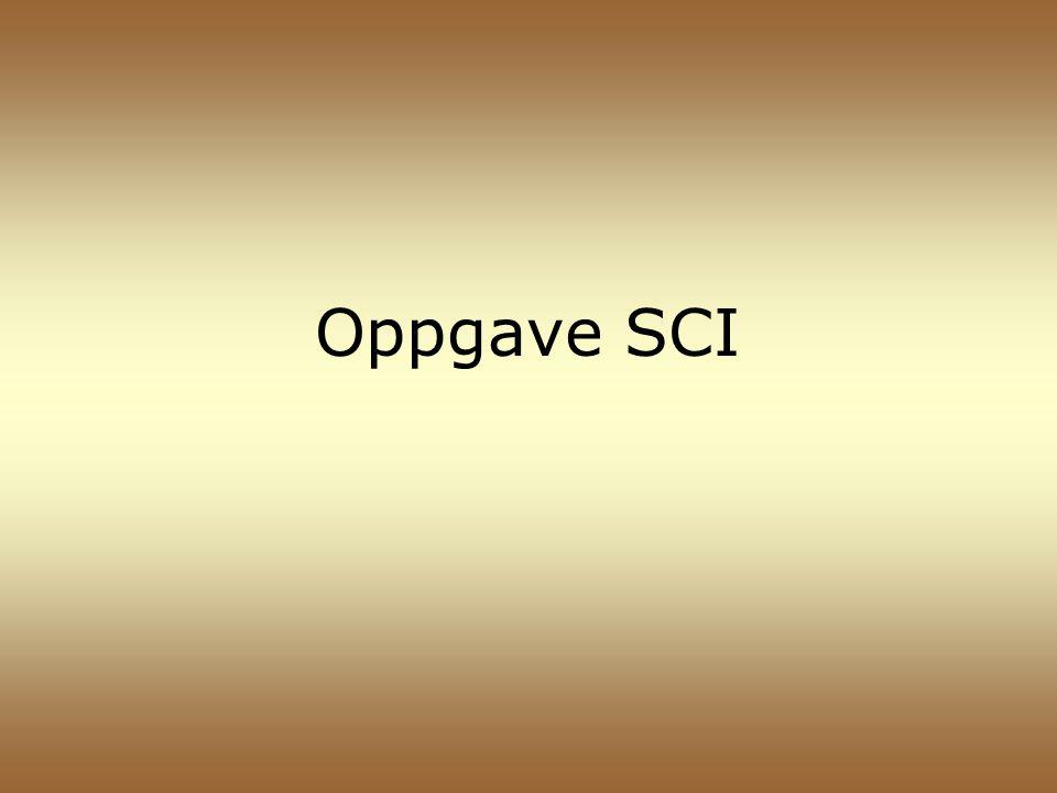 Oppgave SCI