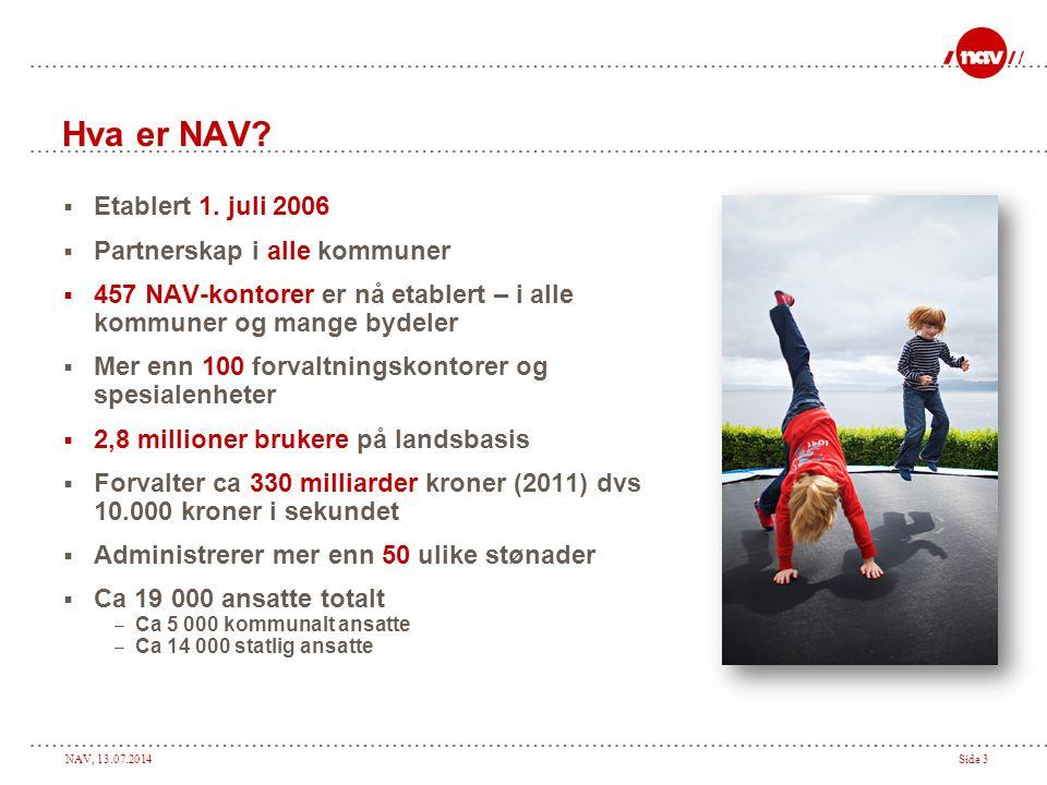 Hva er NAV Etablert 1. juli 2006 Partnerskap i alle kommuner