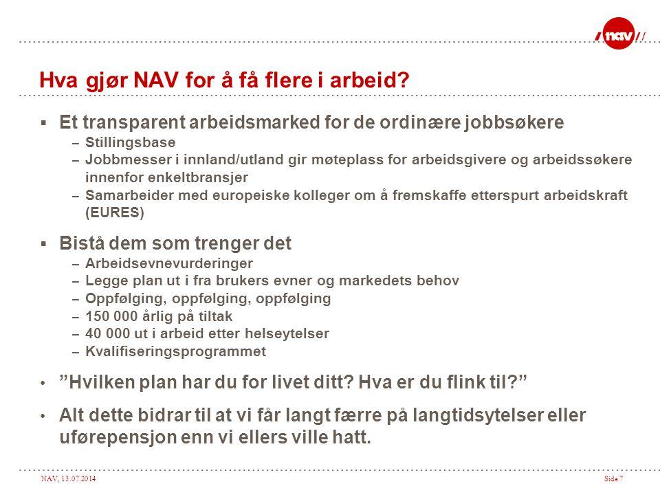Hva gjør NAV for å få flere i arbeid