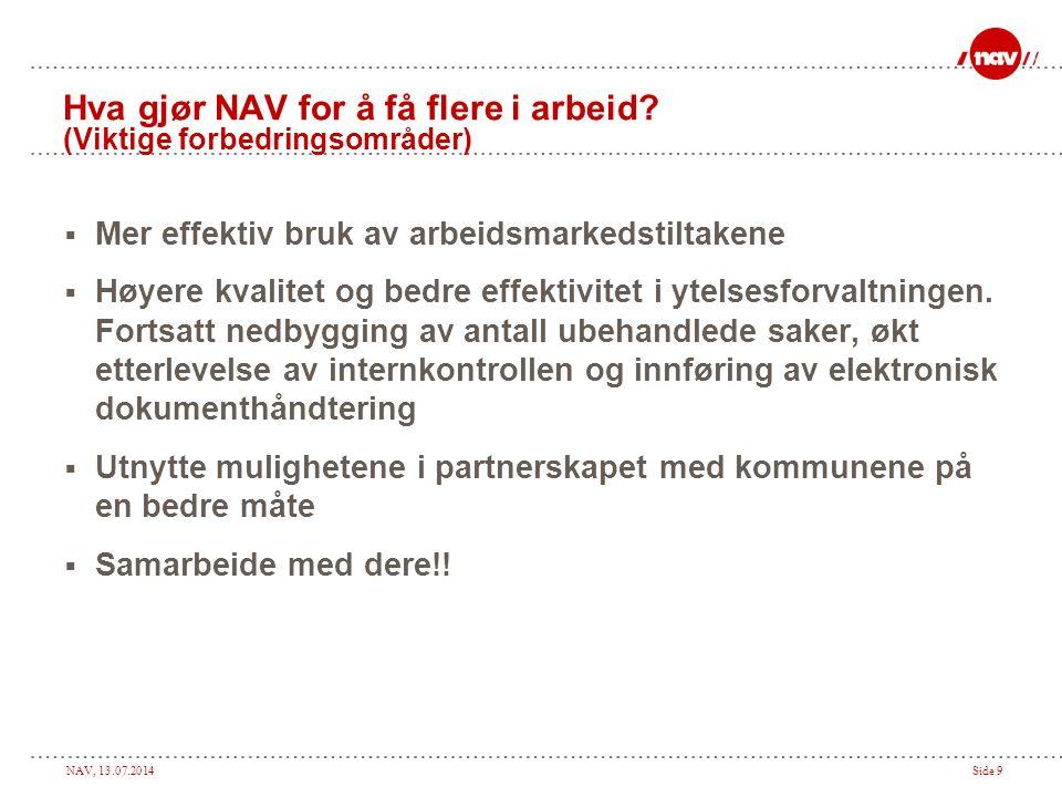 Hva gjør NAV for å få flere i arbeid (Viktige forbedringsområder)