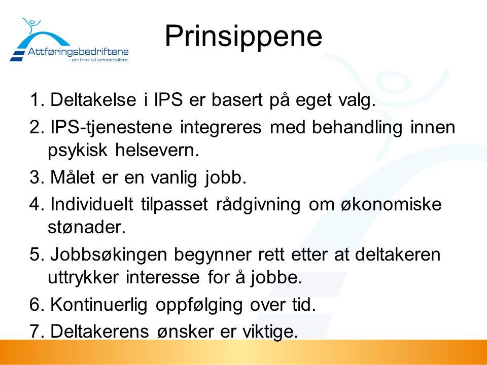 Prinsippene 1. Deltakelse i IPS er basert på eget valg.