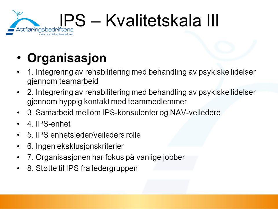 IPS – Kvalitetskala III
