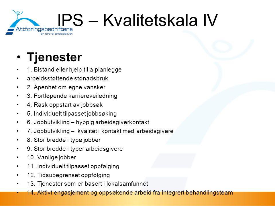 IPS – Kvalitetskala IV Tjenester