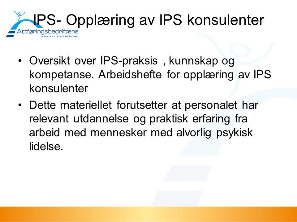 IPS- Opplæring av IPS konsulenter