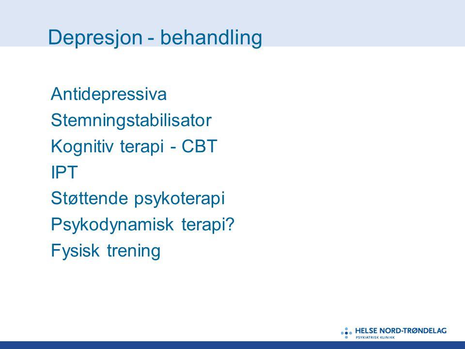 Depresjon - behandling