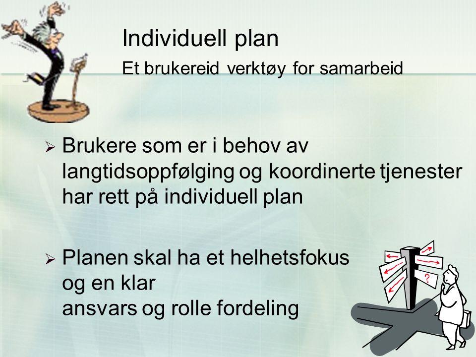 Individuell plan Et brukereid verktøy for samarbeid
