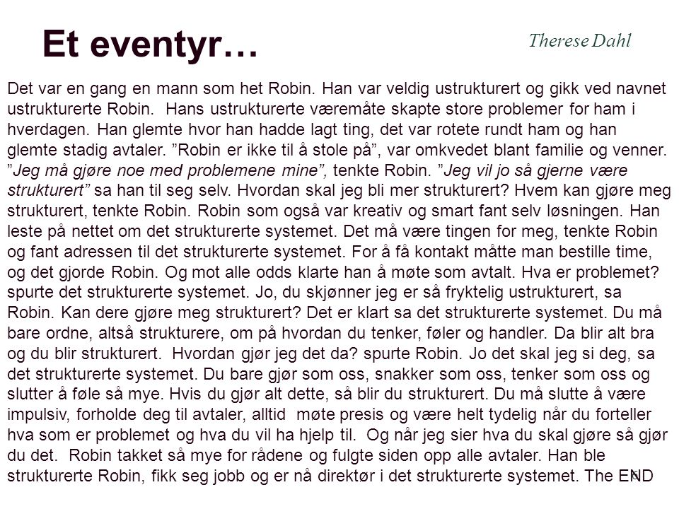 Et eventyr… Therese Dahl