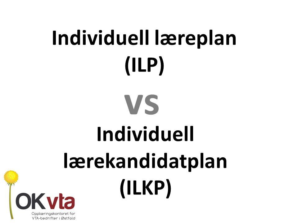 Individuell læreplan (ILP)