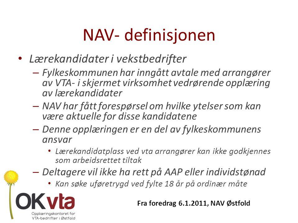 NAV- definisjonen Lærekandidater i vekstbedrifter