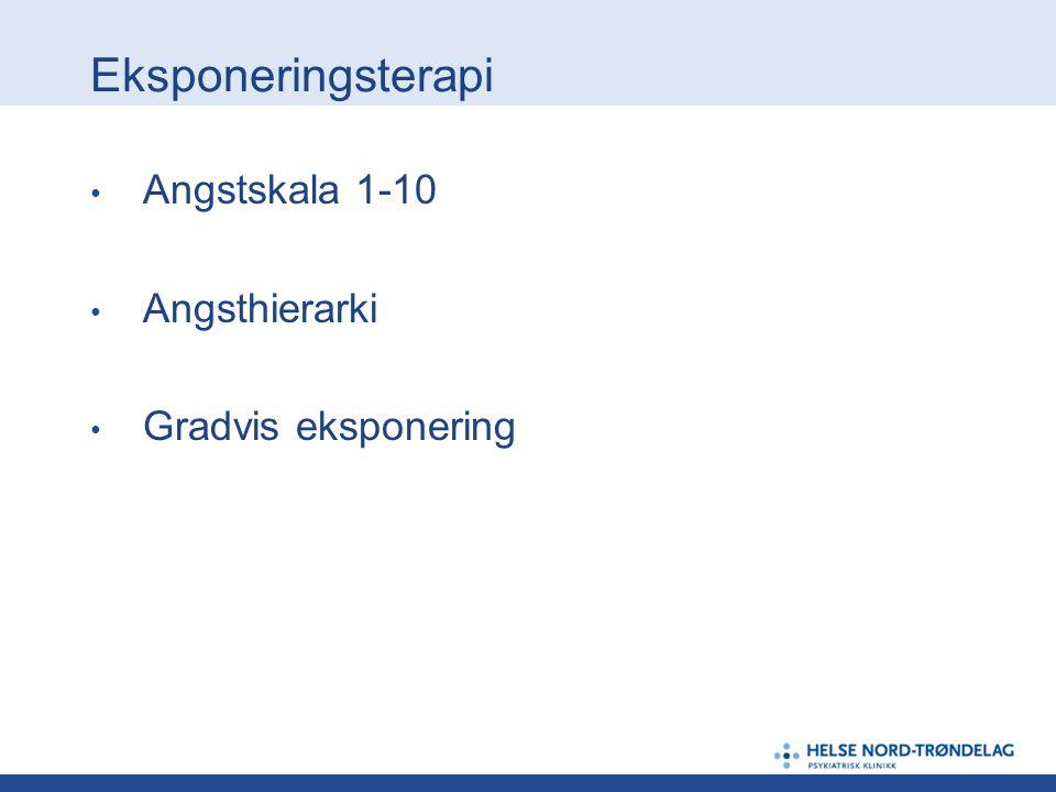 Eksponeringsterapi Angstskala 1-10 Angsthierarki Gradvis eksponering