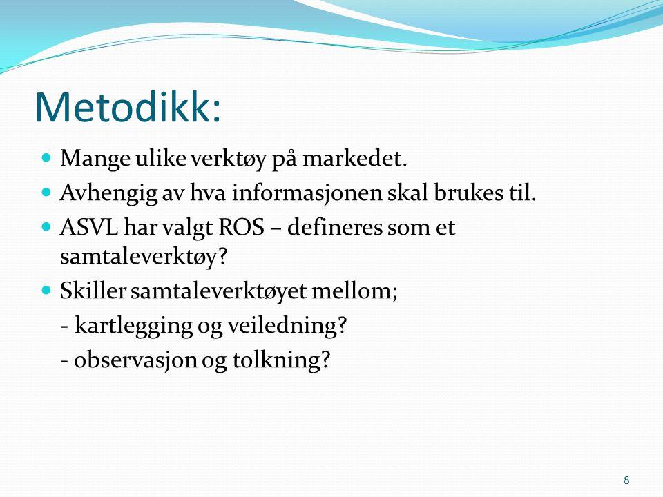 Metodikk: Mange ulike verktøy på markedet.