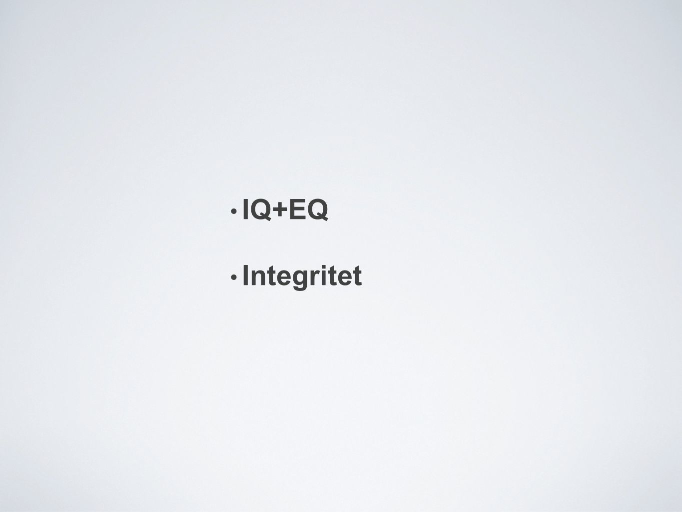 IQ+EQ Integritet