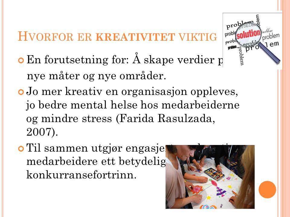 Hvorfor er kreativitet viktig