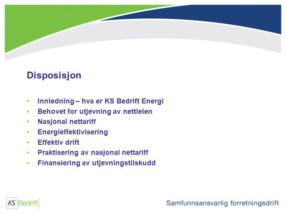 Disposisjon Innledning – hva er KS Bedrift Energi