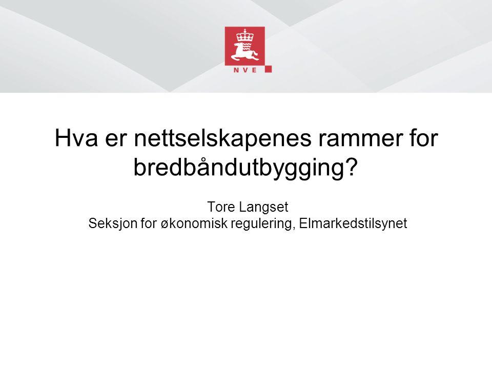 Hva er nettselskapenes rammer for bredbåndutbygging