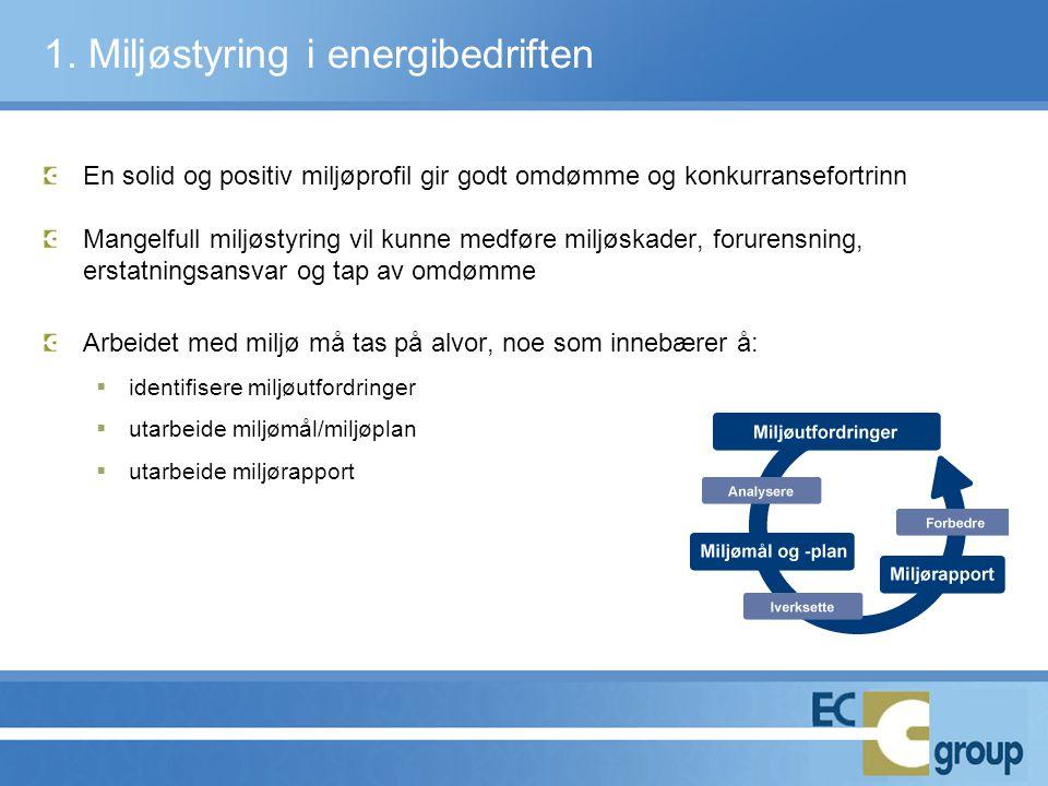 1. Miljøstyring i energibedriften