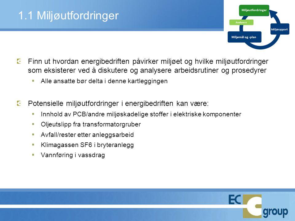 1.1 Miljøutfordringer