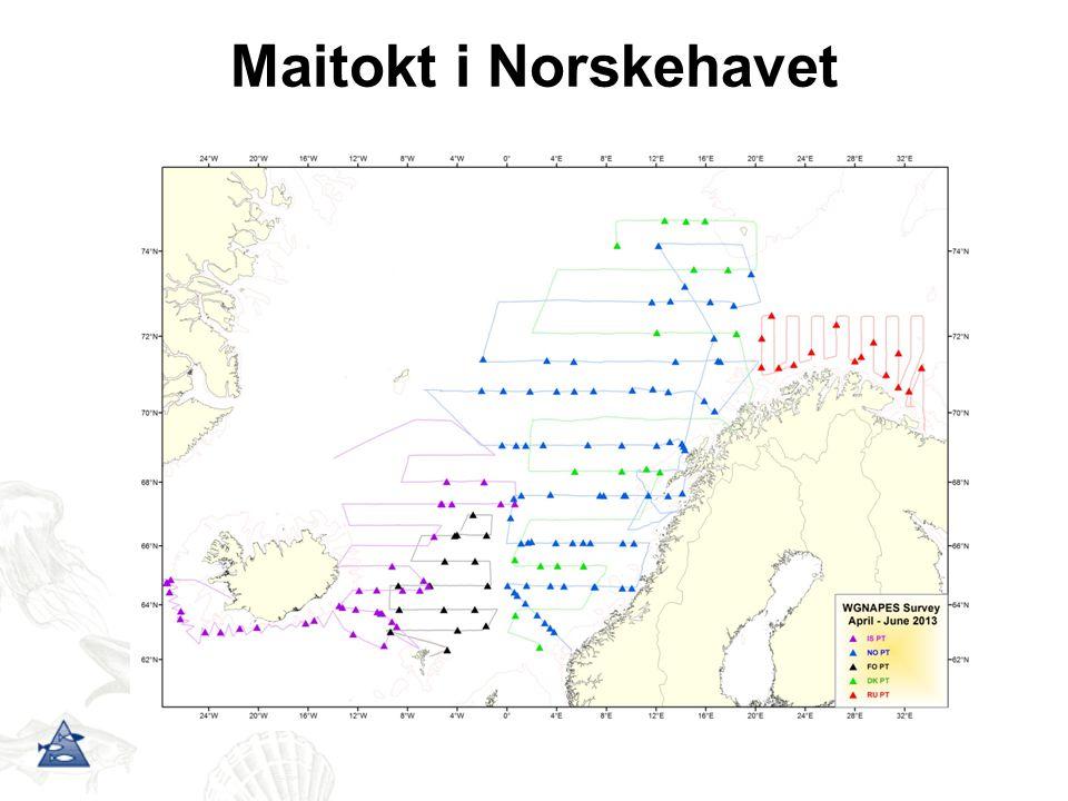 Maitokt i Norskehavet En rekke datakilder