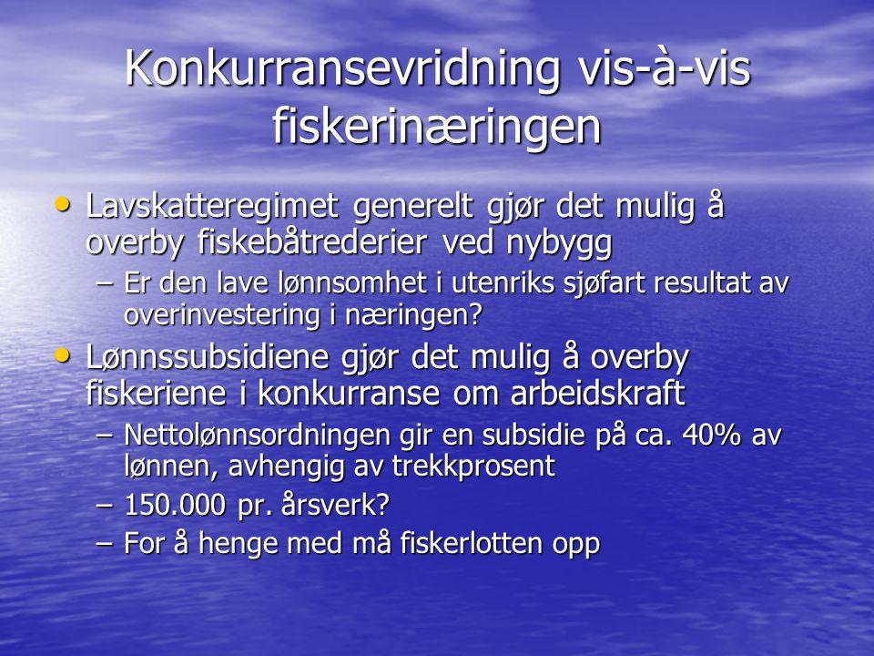 Konkurransevridning vis-à-vis fiskerinæringen