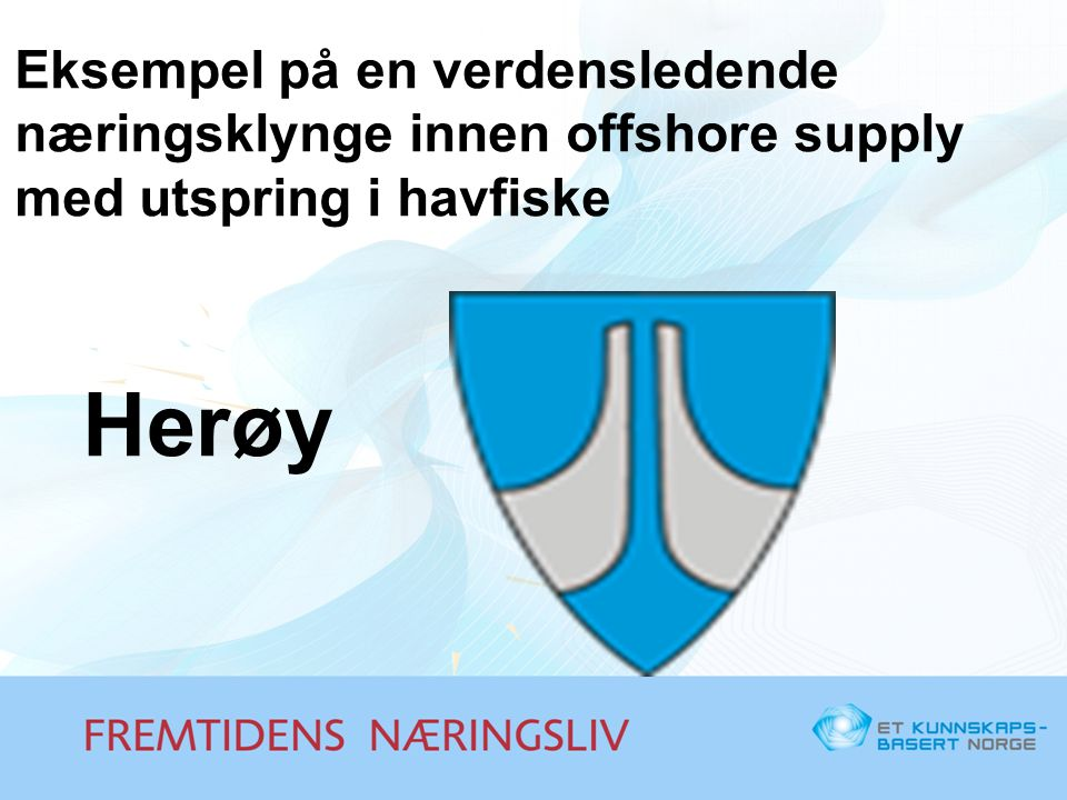 Eksempel på en verdensledende næringsklynge innen offshore supply med utspring i havfiske