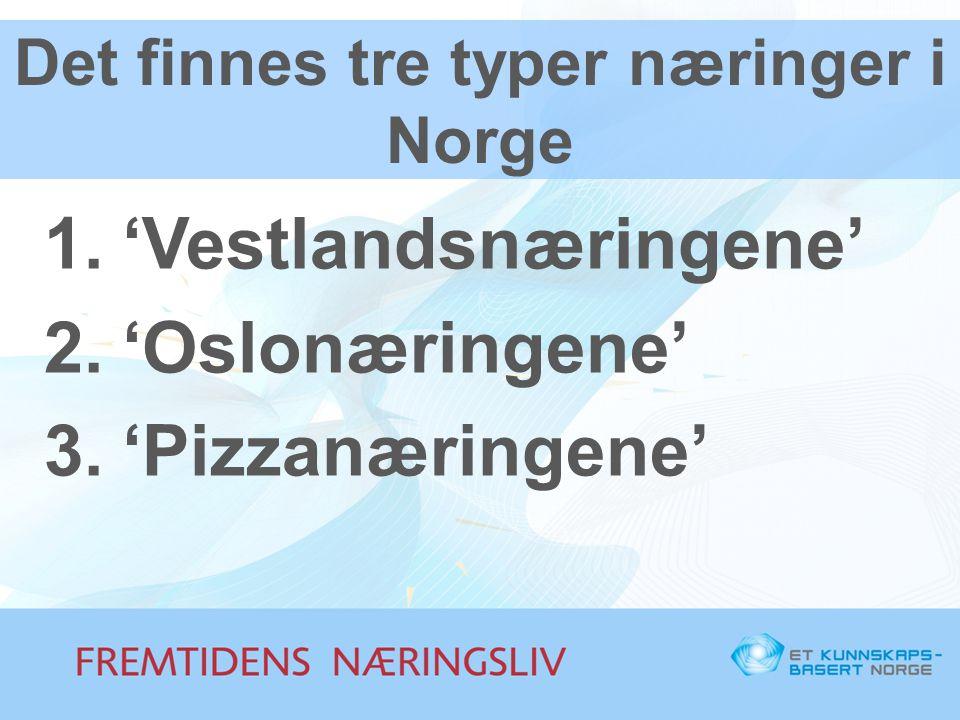 Det finnes tre typer næringer i Norge