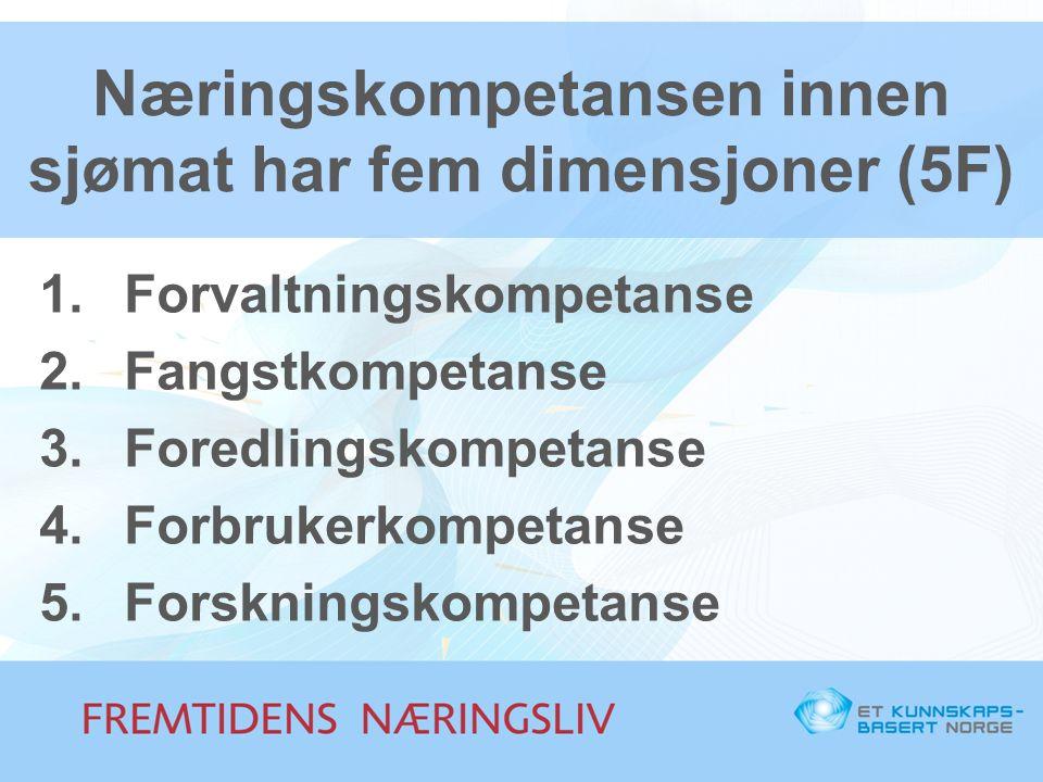 Næringskompetansen innen sjømat har fem dimensjoner (5F)