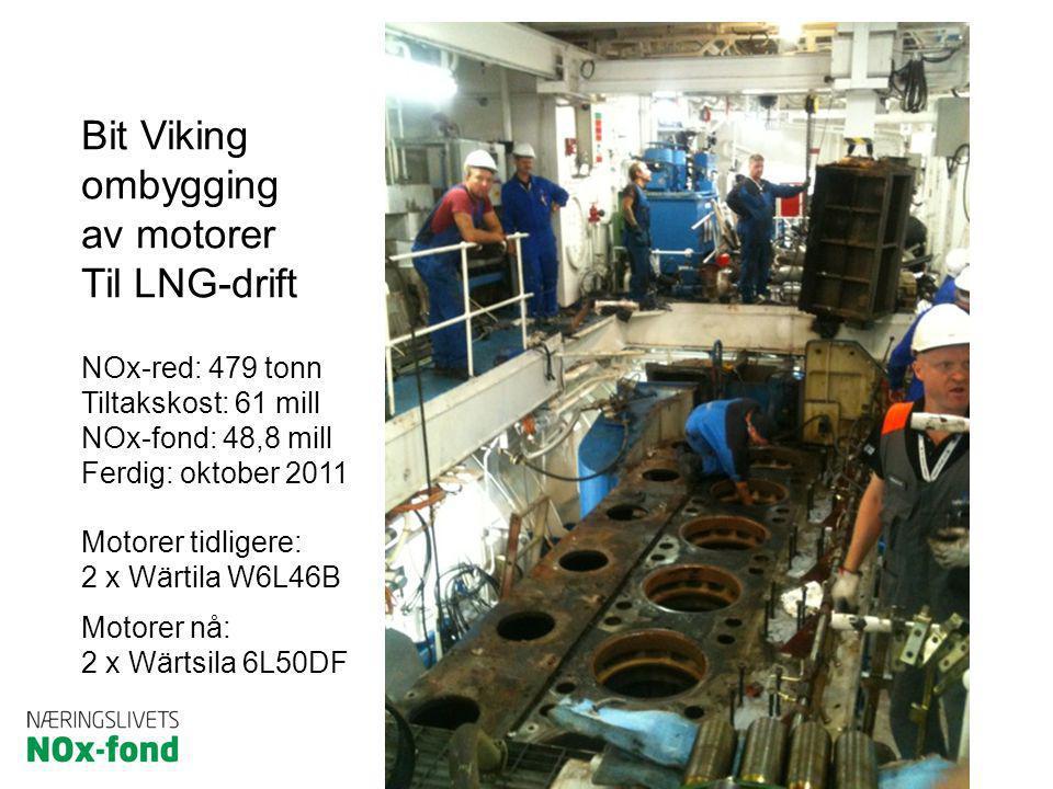 Bit Viking ombygging av motorer Til LNG-drift NOx-red: 479 tonn