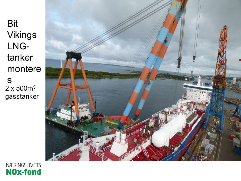 Bit Vikings LNG- tanker monteres 2 x 500m3 gasstanker