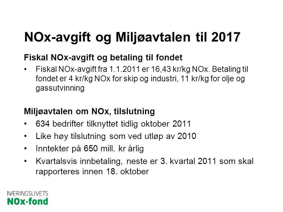 NOx-avgift og Miljøavtalen til 2017
