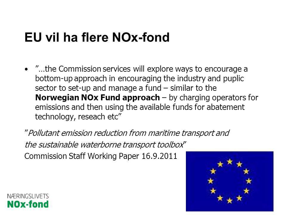EU vil ha flere NOx-fond
