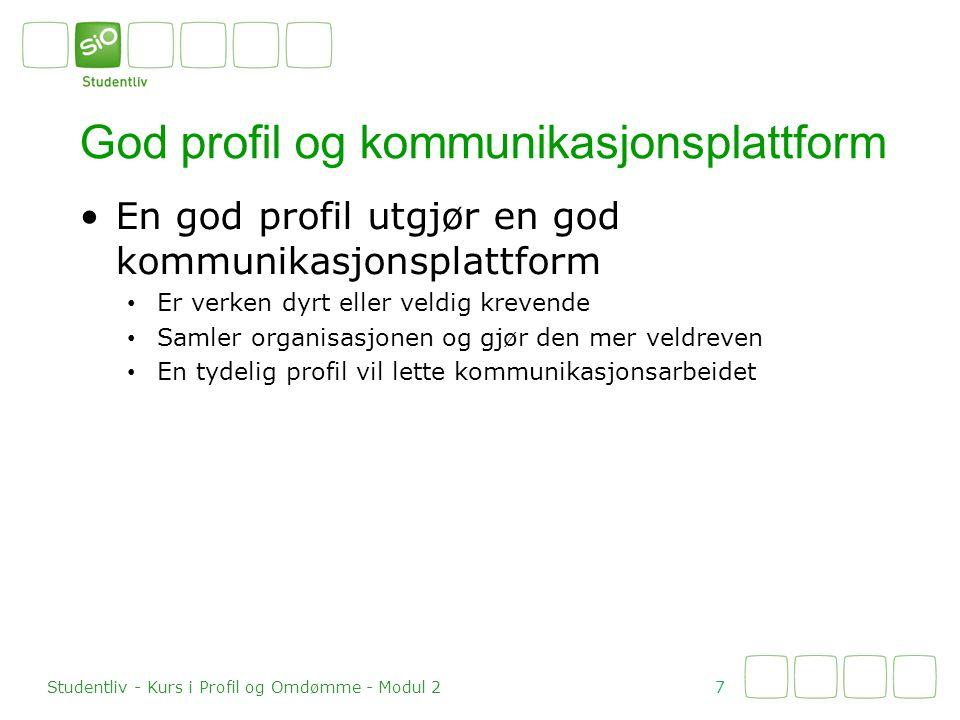 God profil og kommunikasjonsplattform