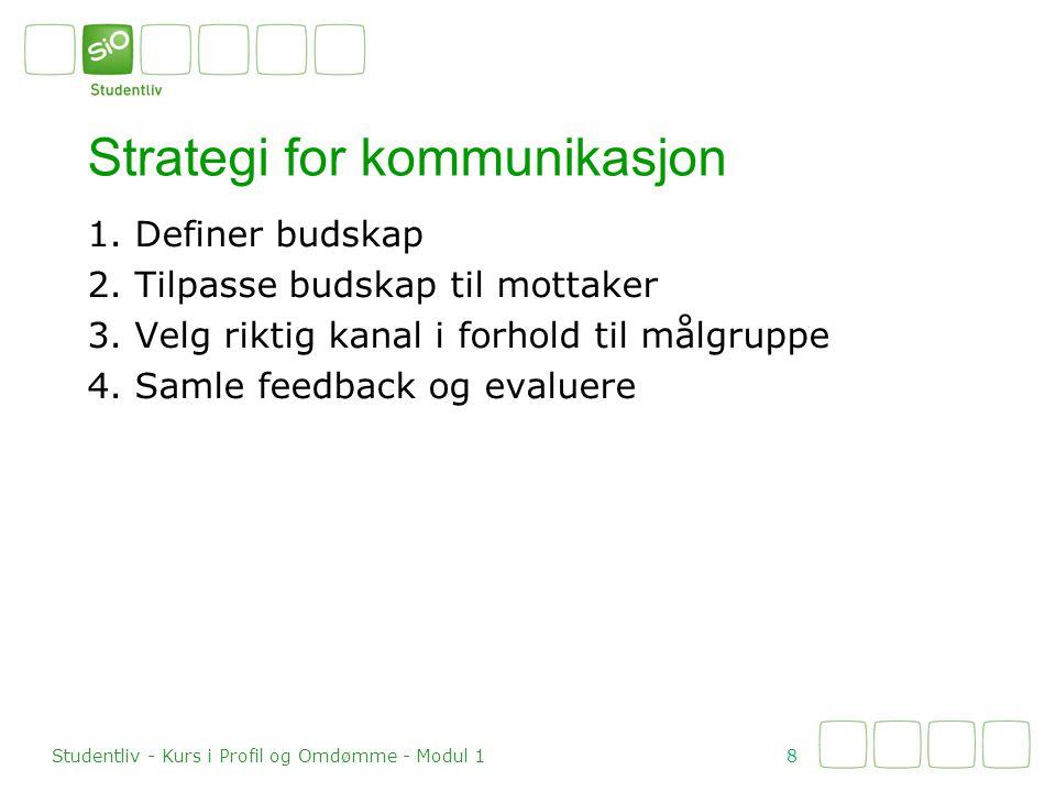 Strategi for kommunikasjon