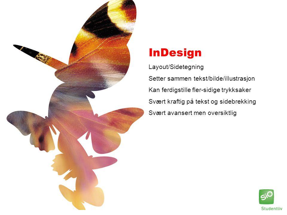 InDesign Layout/Sidetegning Setter sammen tekst/bilde/illustrasjon