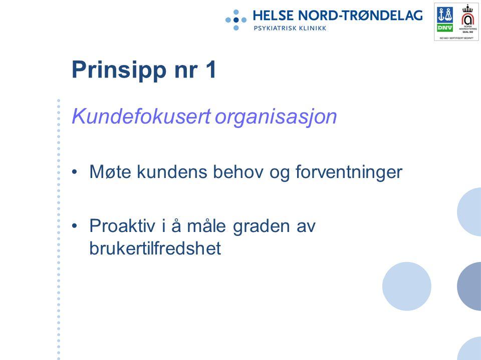Prinsipp nr 1 Kundefokusert organisasjon