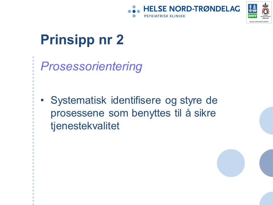 Prinsipp nr 2 Prosessorientering