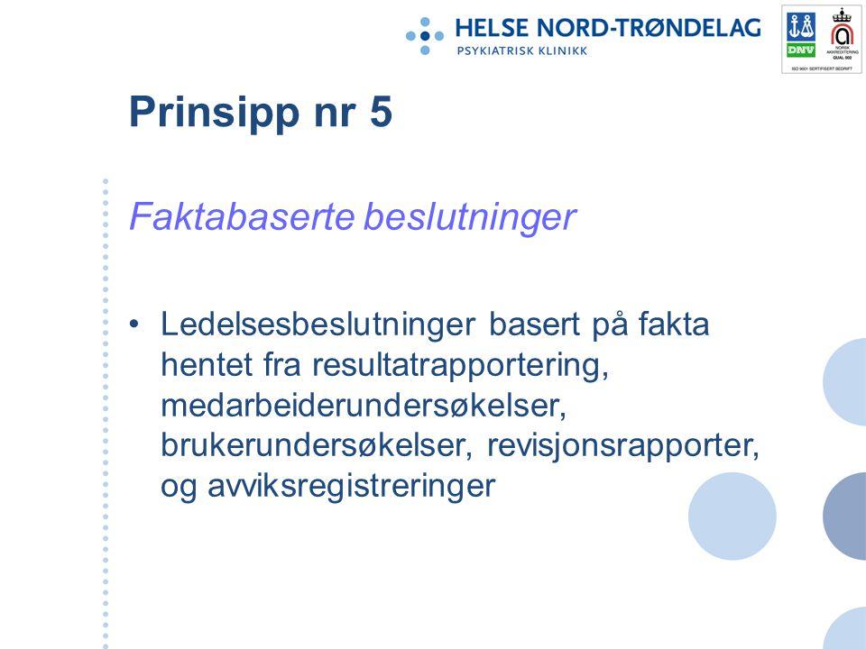 Prinsipp nr 5 Faktabaserte beslutninger