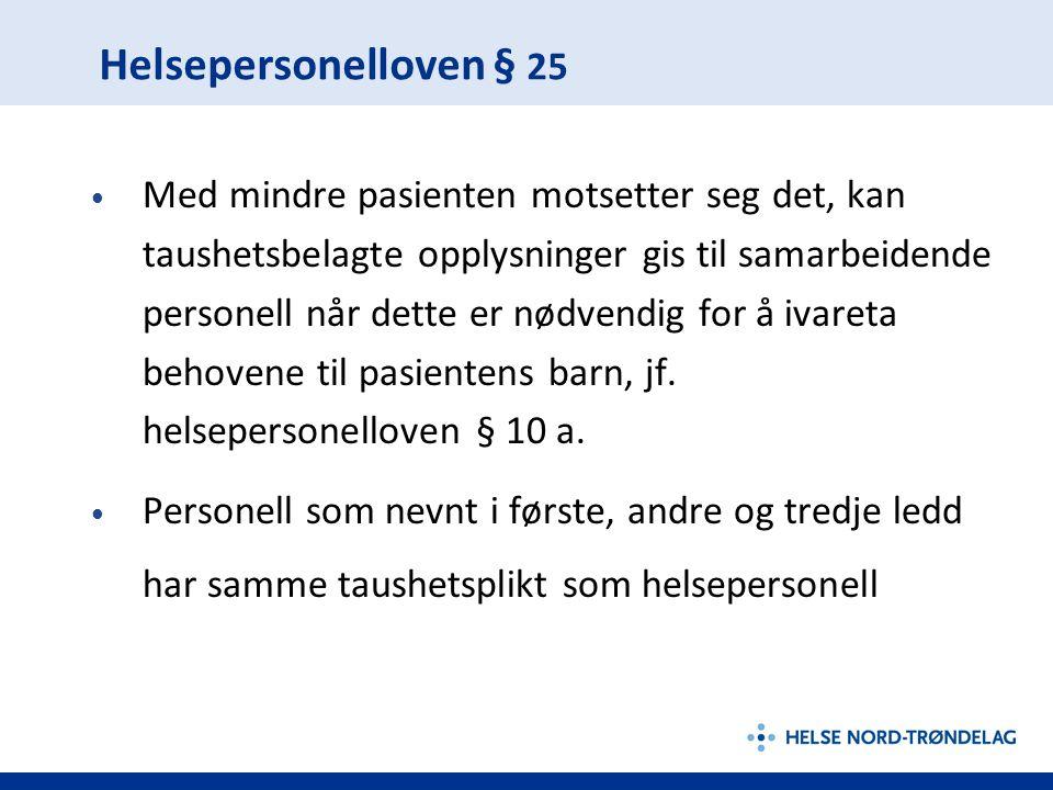 Helsepersonelloven § 25
