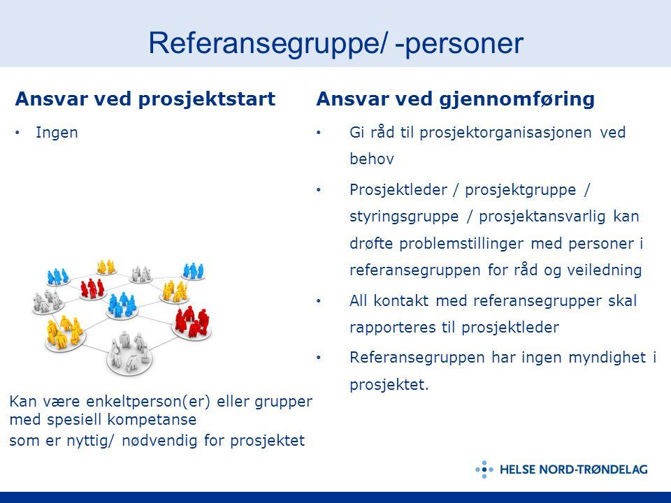 Referansegruppe/ -personer