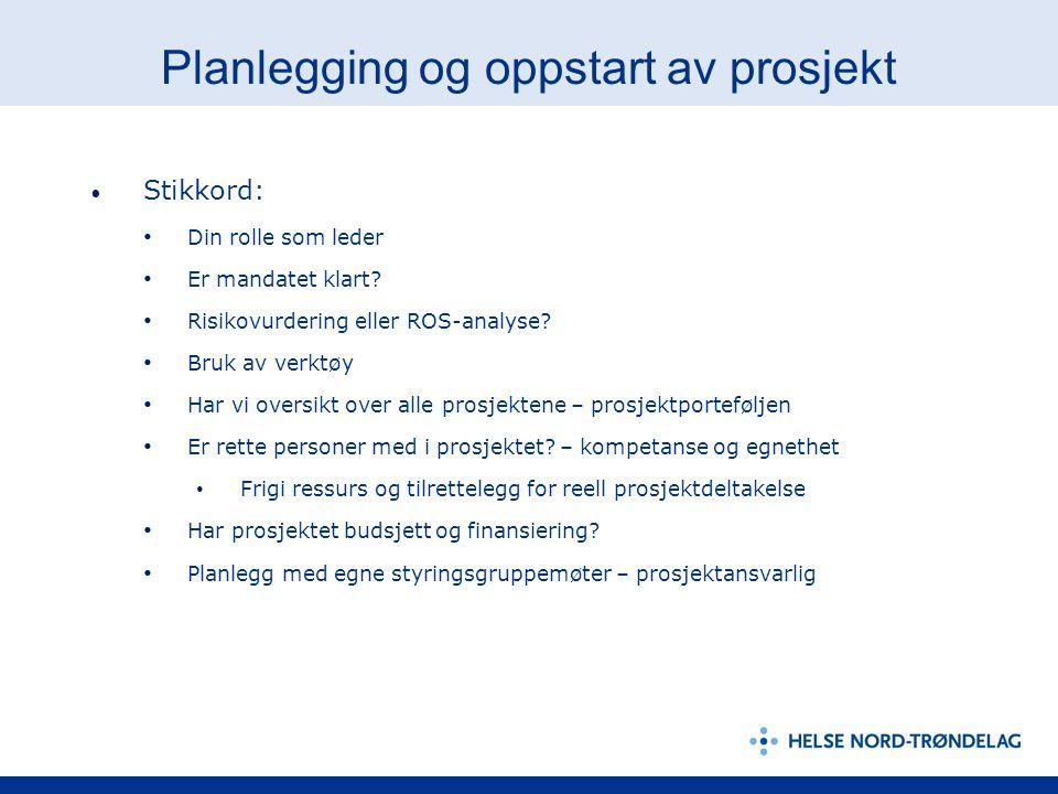 Planlegging og oppstart av prosjekt