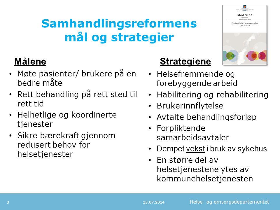 Samhandlingsreformens mål og strategier