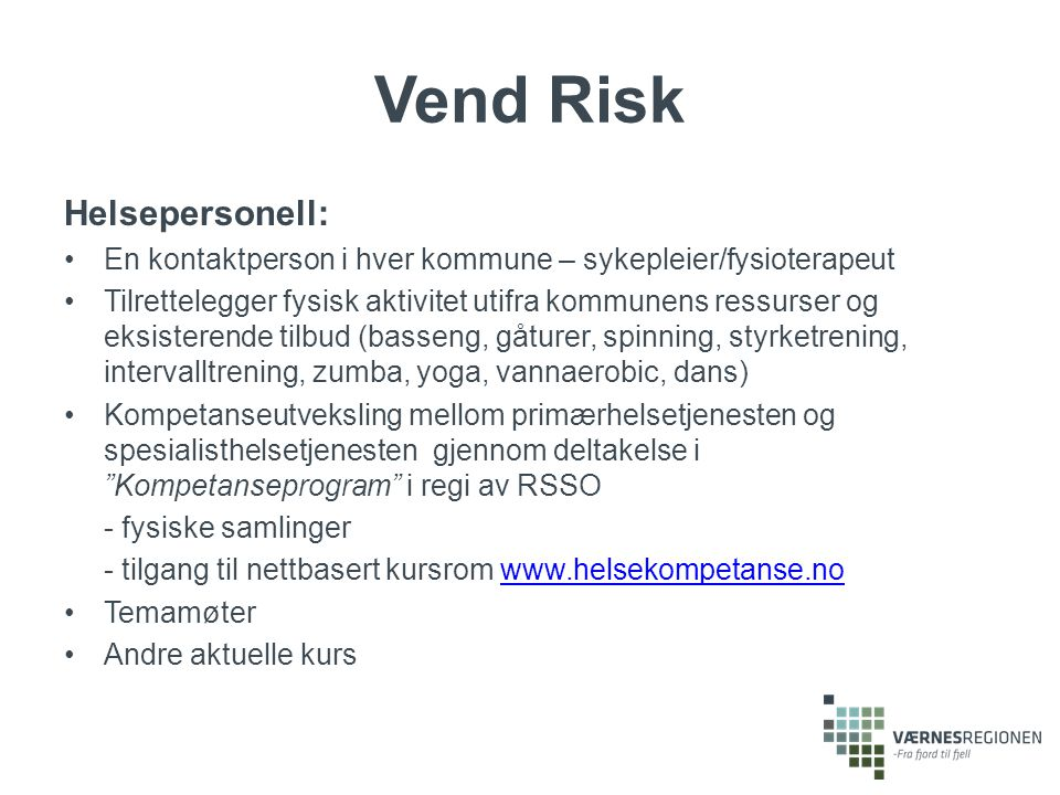 Vend Risk Helsepersonell: