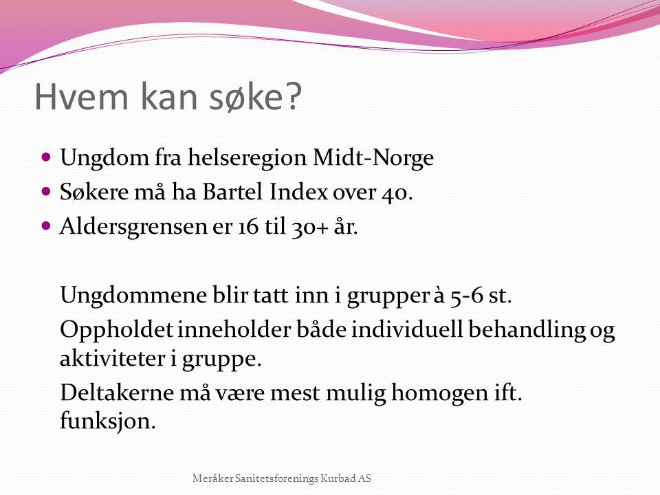 Hvem kan søke Ungdom fra helseregion Midt-Norge