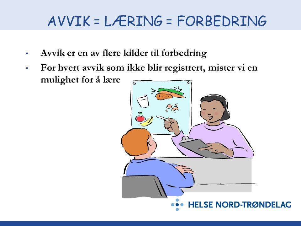 AVVIK = LÆRING = FORBEDRING